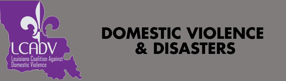 DV & Disasters